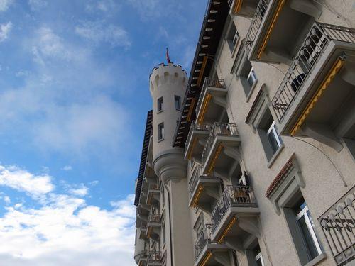 Gstaad, Palace, façade